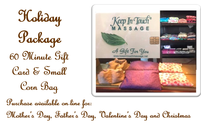 Gift Card Package - Small Corn Bag & 60 Minute Massage